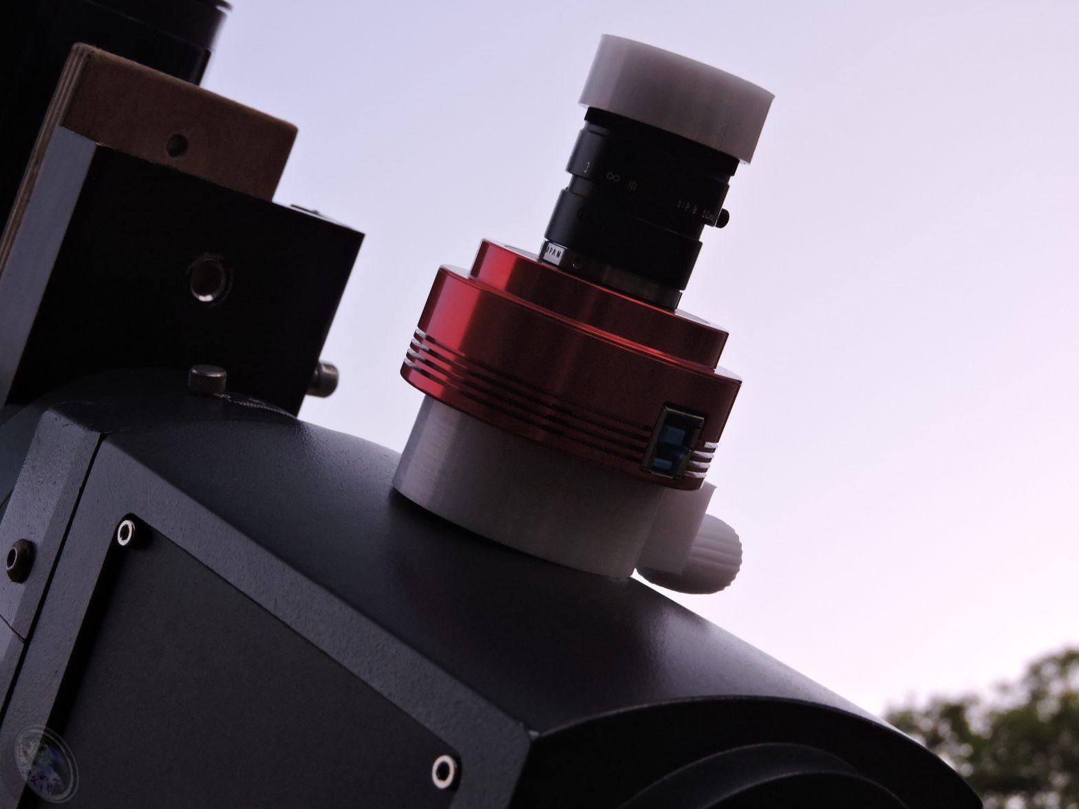 ASI120MM-S bereit für das Polaralignment